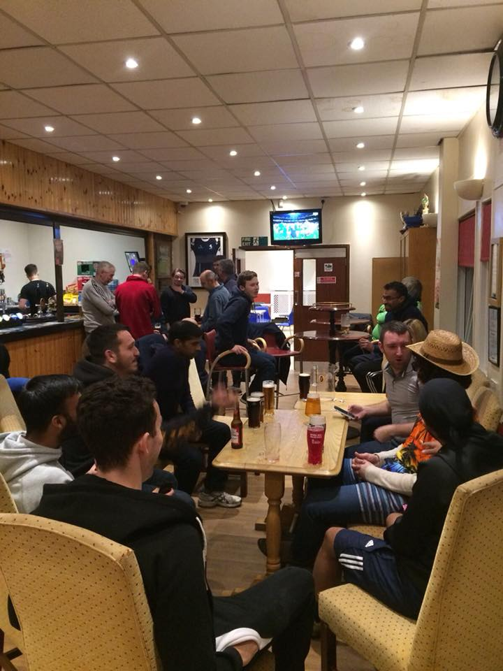 Post-match at the Clubhouse